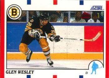 1990 Score American #97 Glen Wesley - Standard
