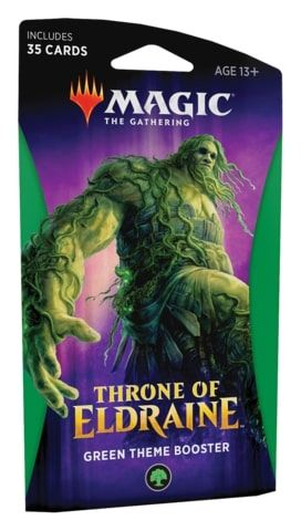 Magic the Gathering Throne of Eldraine Theme Booster - Green