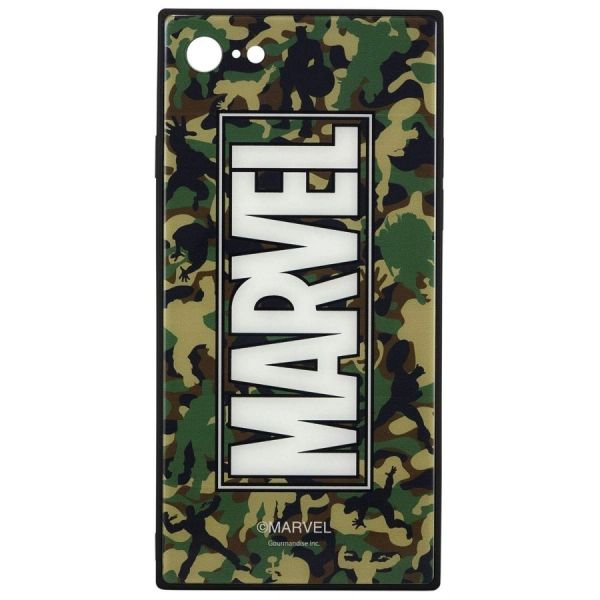 MV-130D MARVEL Square Glass Case for iPhone 8/7 (Camouflage) by gourmandise