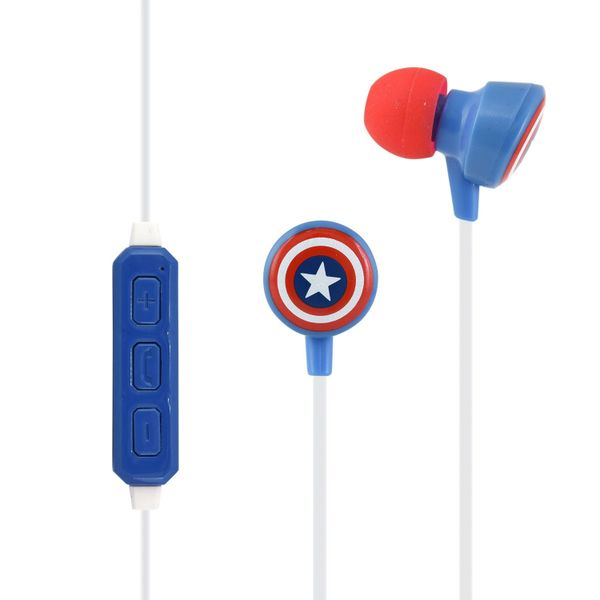 MV-BT002 MARVEL Bluetooth Earphones (Captain America) by gourmandise