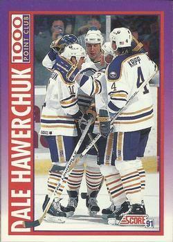 1991 Score American #376 Dale Hawerchuk - Standard