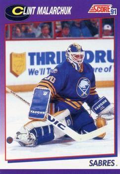 1991 Score American #438 Clint Malarchuk - Standard