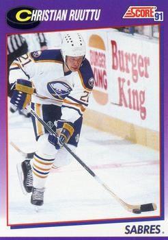1991 Score American #45 Christian Ruuttu - Standard