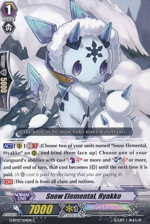 G-BT07/104EN (C) Snow Elemental, Hyakko