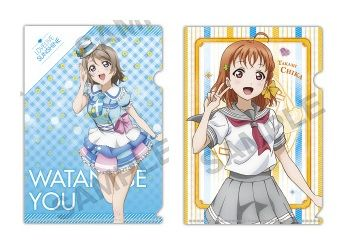 "Petit Clear File Folder 2 Sets ""Love Live! Sunshine!! (You & Chika)"" by Kadokawa"