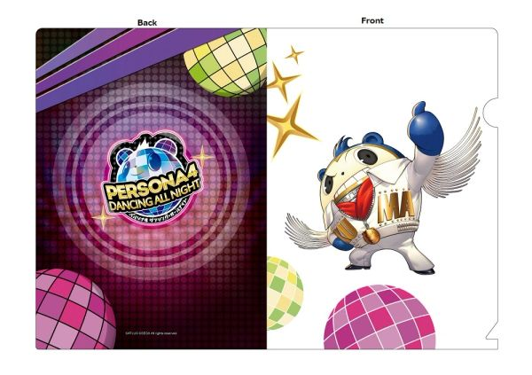 "A5 Size Clear File Folder ""Persona 4: Dancing All Night (Teddie)"" by Contents Seed"
