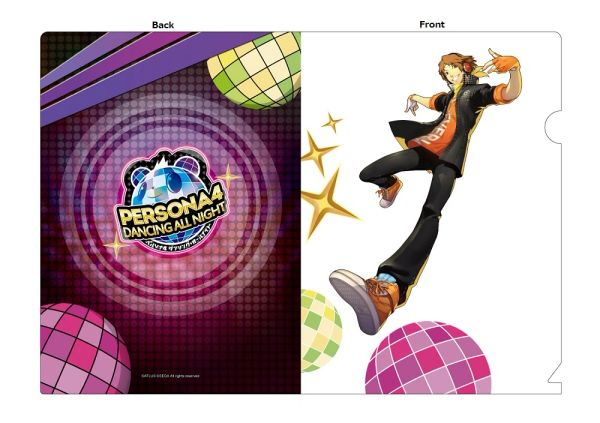 "A5 Size Clear File Folder ""Persona 4: Dancing All Night (Yosuke)"" by Contents Seed"