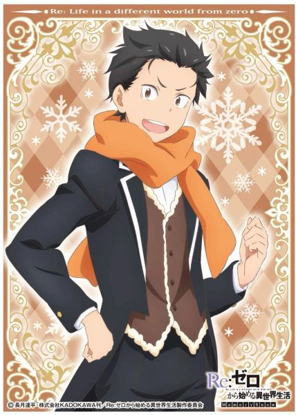 "Character Sleeve ""Re:Zero -Starting Life in Another World- Memory Snow (Natsuki Subaru)"" EN-845 by Ensky"