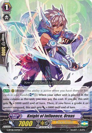 G-BT08/047EN (C) Knight of Influence, Ornas