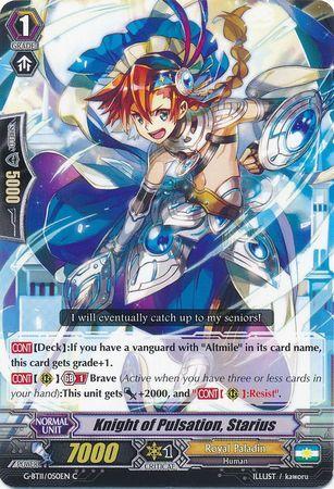 G-BT11/050EN (C) Knight of Pulsation, Starius