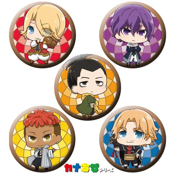 "KanaChibi Can Badge Set ""Altair: A Record of Battles"" by ACG"