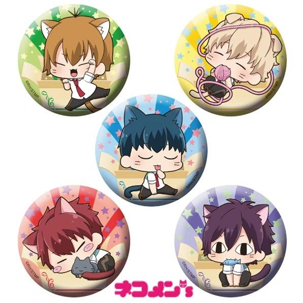 "Nekomens Can Badge Set ""Star-Myu"" by ACG"