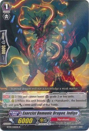 BT09/040EN (R) Exorcist Demonic Dragon, Indigo