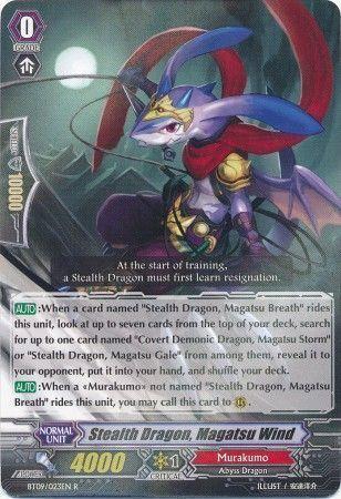 BT09/023EN (R) Stealth Dragon, Magatsu Wind