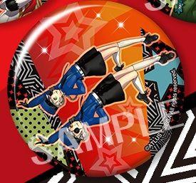"Trading Badge Collection ""Persona 5: Dancing Star Night (Caroline & Justine)"" by Kotobukiya"