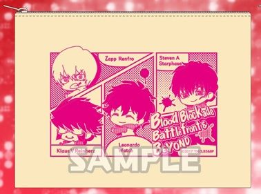 "Flat Pouch ""Blood Blockade Battlefront & Beyond (Group ver.)"" by Bushiroad Creative"