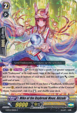 G-BT12/051EN (C) Miko of the Daybreak Moon, Akizuki