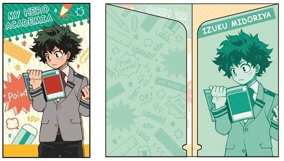 "Slim Clear File and Sticker Collection ""My Hero Academia (Midoriya Izuku)"" by POMMOP"
