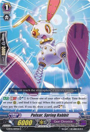G-BT14/097EN (C) Pulsar, Spring Rabbit