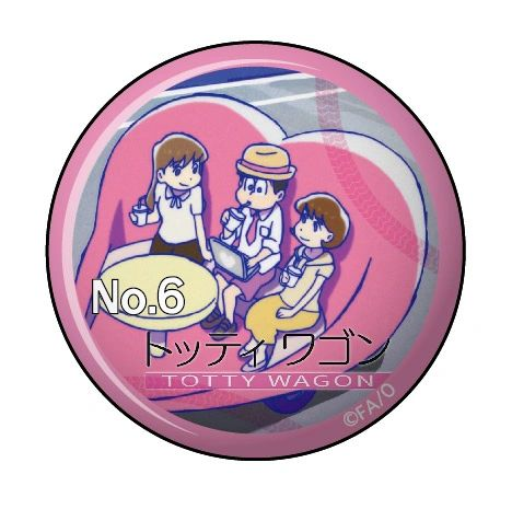 """Can Clip Badge Vol.3 """"Osomatsu-san (Totty Wagon)"""" by Twinkle"""