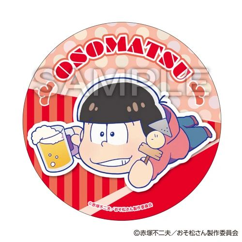 "Nesoberi Trading Can Badge Vol.1 ""Osomatsu-san (Osomatsu)"" by SEGA Interactive"
