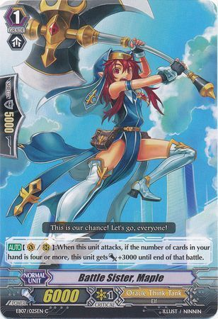 EB07/025EN (C) Battle Sister, Maple