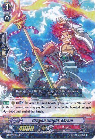 BT14/033EN (R) Dragon Knight, Akram