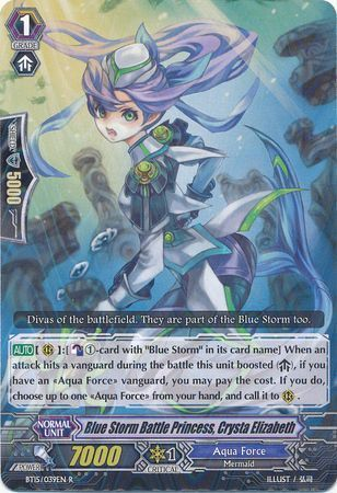 BT15/039EN (R) Blue Storm Battle Princess, Crysta Elizabeth
