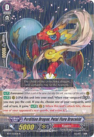 BT17/032EN (R) Perdition Dragon, Petal Flare Dracokid