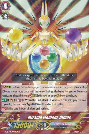 G-BT01/043EN (R) Miracle Element, Atmos