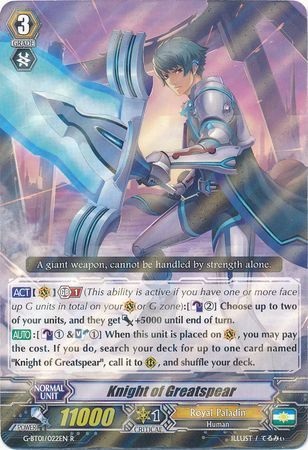 G-BT01/022EN (R) Knight of Greatspear