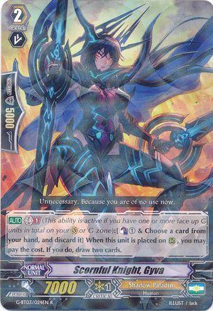 G-BT03/024EN (R) Scornful Knight, Gyva