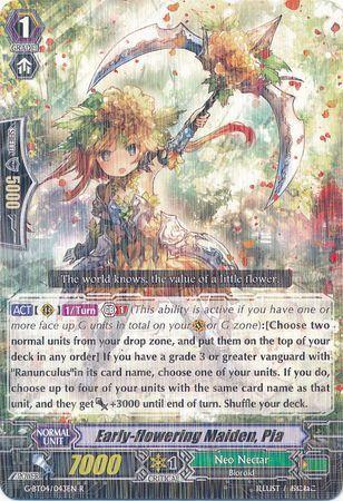 G-BT04/043EN (R) Early-flowering Maiden, Pia