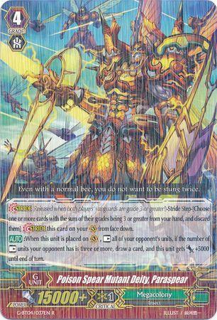 G-BT04/037EN (R) Poison Spear Mutant Deity, Paraspear