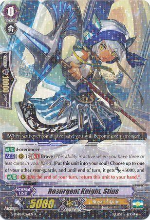 G-BT06/026EN (R) Resurgent Knight, Stius