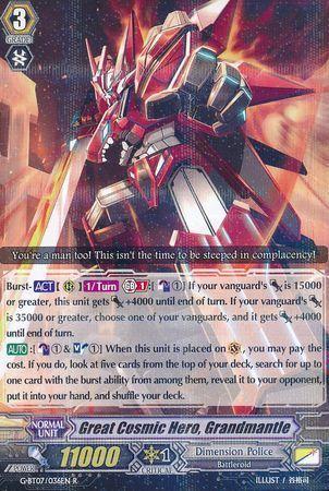 G-BT07/036EN (R) Great Cosmic Hero, Grandmantle