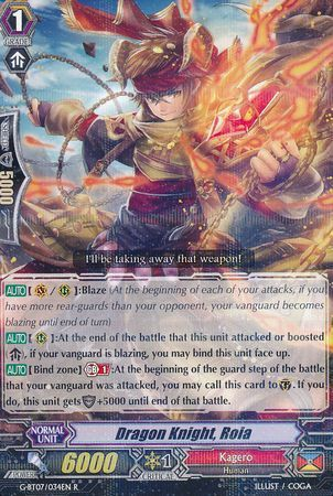 G-BT07/034EN (R) Dragon Knight, Roia