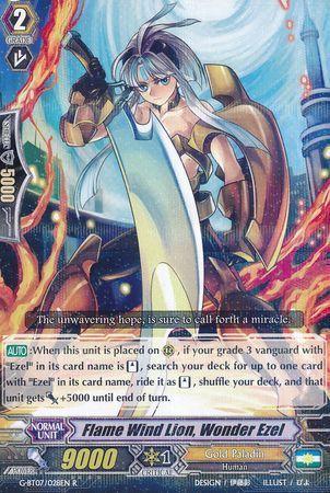 G-BT07/028EN (R) Flame Wind Lion, Wonder Ezel