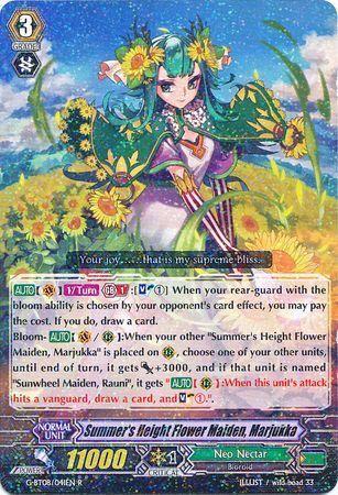 G-BT08/041EN (R) Summer's Height Flower Maiden, Marjukka