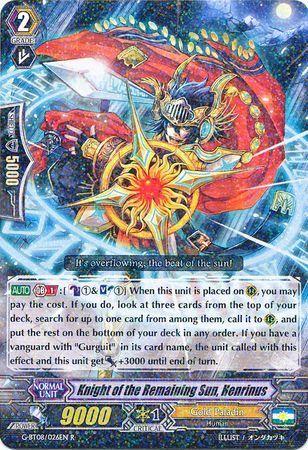 G-BT08/026EN (R) Knight of the Remaining Sun, Henrinus