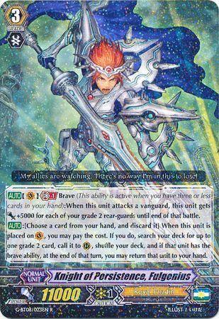 G-BT08/023EN (R) Knight of Persistence, Fulgenius