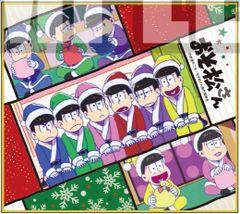 "Mini Shikishi Art Collection ""Osomatsu-san (Santa)"" by Bushiroad Music"