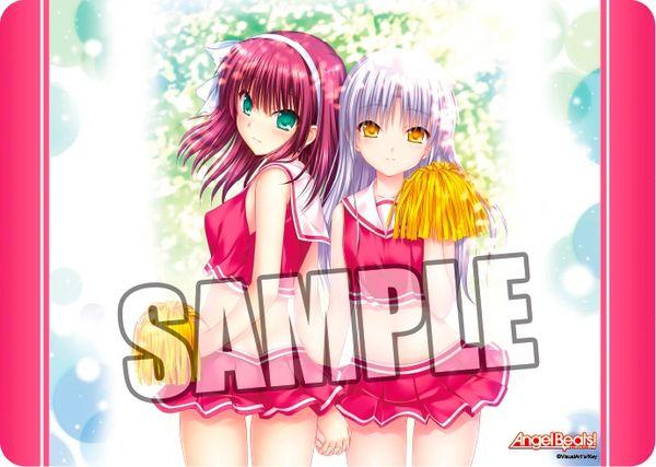 "Character Universal Rubber Mat ""Angel Beats! (Yuri & Tenshi) Ver.3"" by Broccoli"