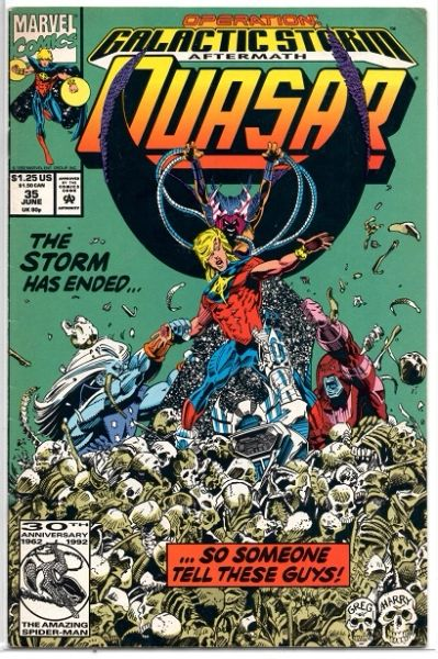Quasar #35 (1992) by Marvel Comics