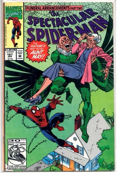 The Spectacular Spider-Man #187 (1992) by Marvel Comics