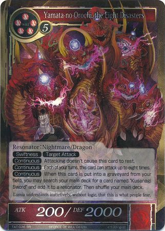 TAT-036 SR Foil - Yamata-no-Orochi, the Eight Disasters