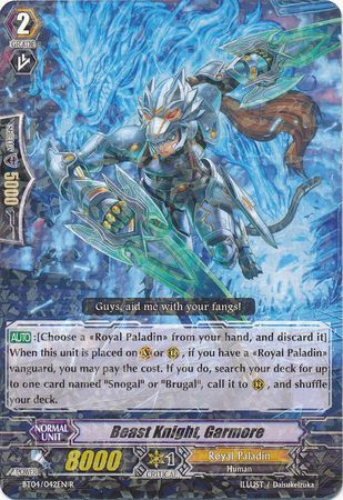 BT04/042EN (R) Beast Knight, Garmore