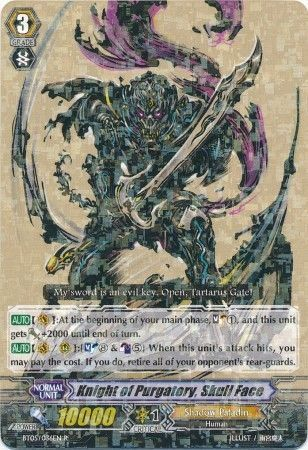 BT05/036EN (R) Knight of Purgatory, Skull Face