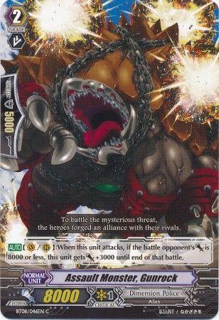 BT08/046EN (C) Assault Monster, Gunrock