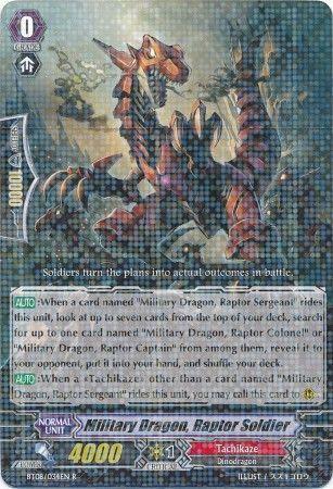BT08/034EN (R) Military Dragon, Raptor Soldier